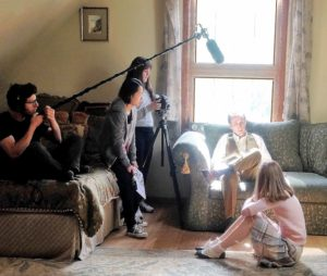 Filming at Aster House